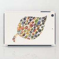 Leafy Palette Ecru iPad Case