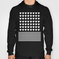 Heart Stripes White On B… Hoody
