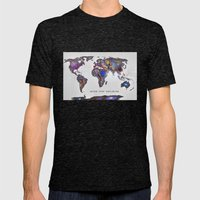 Star map. Never stop exploring... Mens Fitted Tee Tri-Black SMALL