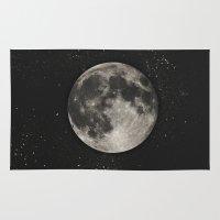 The Moon  [Sans Type] Rug