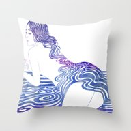 Water Nymph XIX Throw Pillow