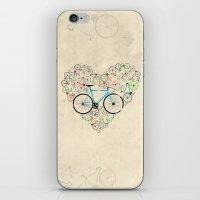 I Love My Bike iPhone & iPod Skin