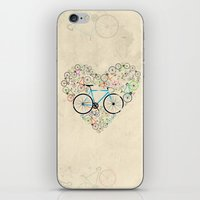 I Love My Bike iPhone & iPod Skin