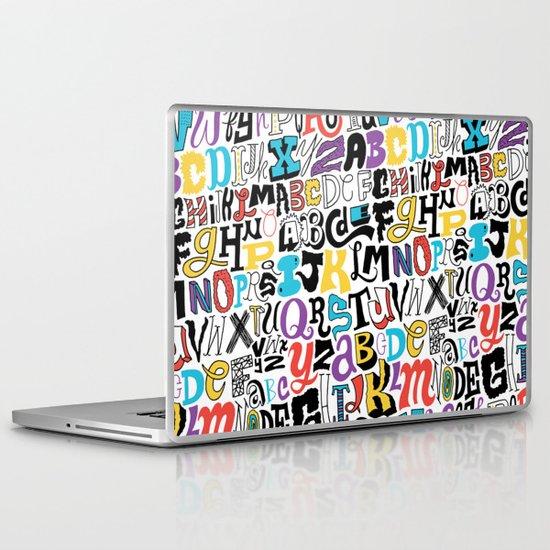 Alpha Pattern Laptop & iPad Skin