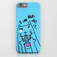iPhone & iPod Case featuring I can haz wifi? by BarKeegan