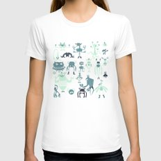 Monsters! Womens Fitted Tee White SMALL