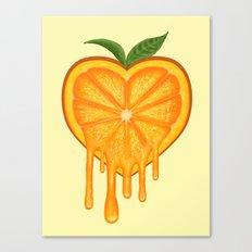 Love Orange Canvas Print