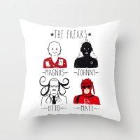 THE FREAKS Throw Pillow
