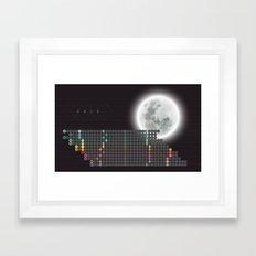 Moon Calendar 2015 by Friztin Framed Art Print