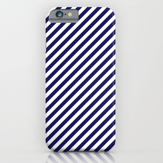 Classic Stripes in Navy + White iPhone & iPod Case