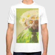 Flowers in the Window Mens Fitted Tee SMALL White