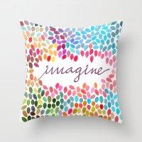 Imagine [Collaboration W… Throw Pillow