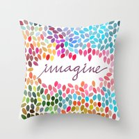 Imagine [Collaboration W… Throw Pillow
