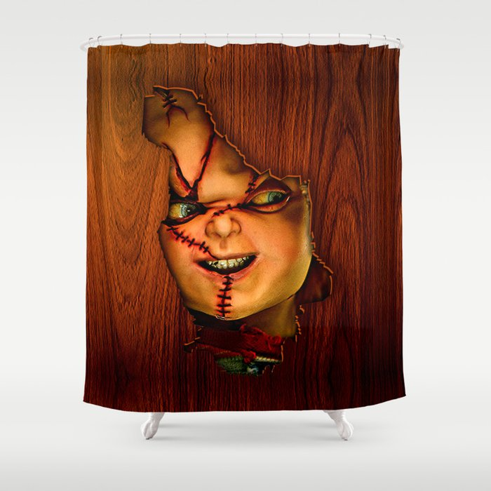 Happy Halloween Trick Or Treat Shower Curtain By Three