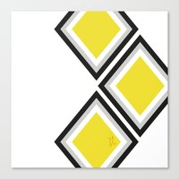 Bumblebee Triangles Canvas Print