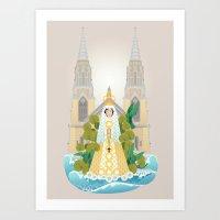Virgen Del Valle Art Print