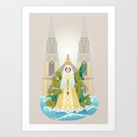 Virgen Del Valle Art Print