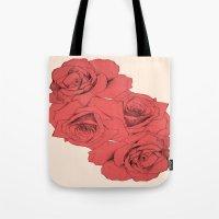 Tattoo Rose   Floral  Tote Bag