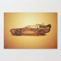 Lost in the Wild Wild West! (Golden Delorean Doubleexposure Art) Canvas Print