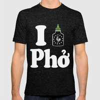 I Heart Pho Mens Fitted Tee Tri-Black SMALL