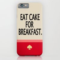 Kate Spade Inspired Eat Cake For Breakfast iPhone 6 Slim Case