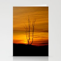 Lone Tree Sunset Stationery Cards