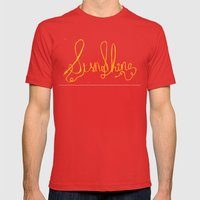 sunshine Mens Fitted Tee Red SMALL