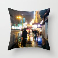 Painted Throw Pillow