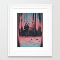 Dancing Fishes Framed Art Print