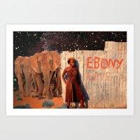 Ebony Love Art Print