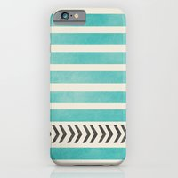 TEAL STRIPES AND ARROWS iPhone 6 Slim Case