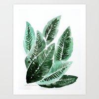 Paradise Leaves Art Print