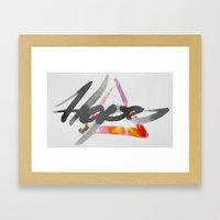 #hope Framed Art Print