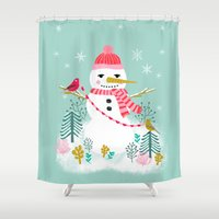 Holiday Snowman By Andre… Shower Curtain
