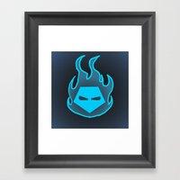 Hot Headed (Blue) Framed Art Print