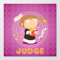 Judge Canvas Print