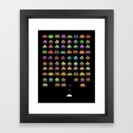 Fashionable Invaders Framed Art Print