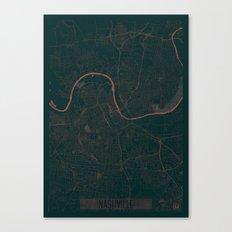 Nashville Map Red Canvas Print