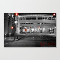 RED LIGHTS Canvas Print