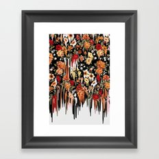 Free Falling, melting floral pattern Framed Art Print