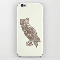 Wood Grain Owl iPhone & iPod Skin