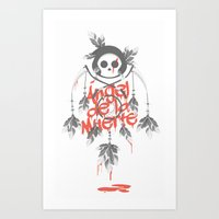 Angel De La Muerte - RED Art Print