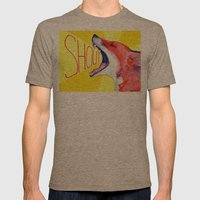 SHOUT! Mens Fitted Tee Tri-Coffee SMALL