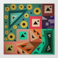 crazy triangles Canvas Print