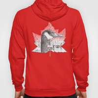 Canada Goose on Maple Leaf (with some red) Hoody