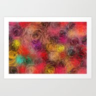 Rose Flow(4). Art Print