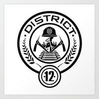 District 12 Art Print