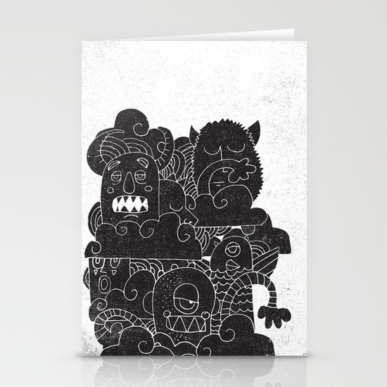 MONSTERS Stationery Card