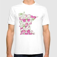 Minnesota in Flowers Mens Fitted Tee White SMALL