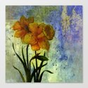 daffodil and textures Canvas Print
